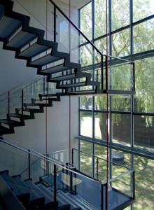 Garde-corps en verre pour escaliers